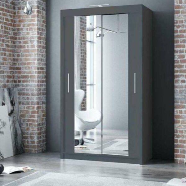 120cm grey wardrobe
