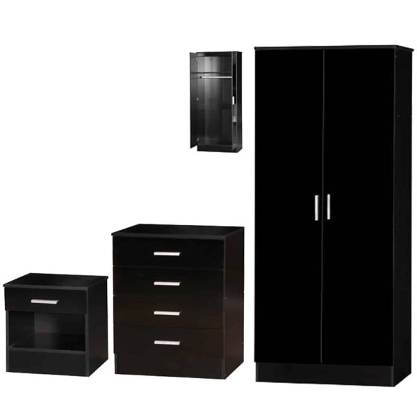 Alina Bedroom Furniture Set Black