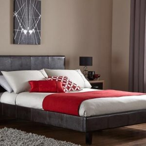 Faux Leather Bed Frame with optional Mattress
