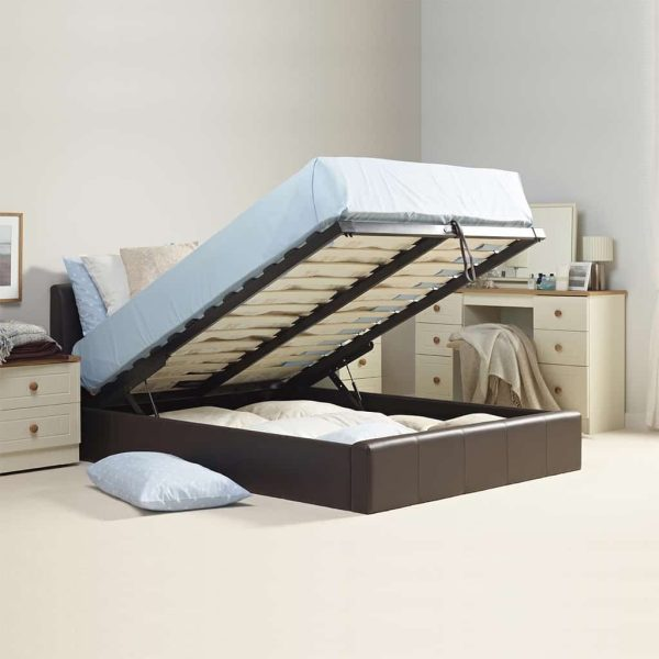 Leather Ottoman Storage Bed