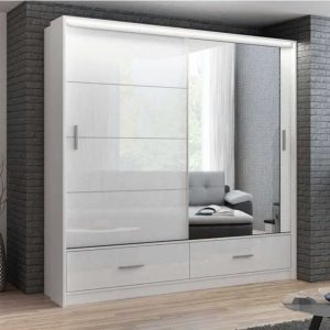 High Gloss Marsylia Wardrobe 208 cm