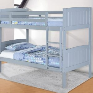 Grey Single wooden bunk bed