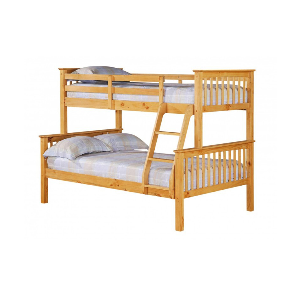 Picture of: Trio Wooden Bunk Bed For Sale Tender Sleep Uk