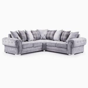 Grey verona corner sofa