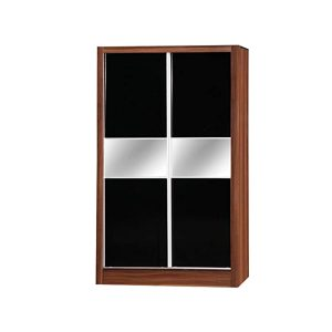 Alpha High Gloss 2 Door Sliding Mirror Wardrobe