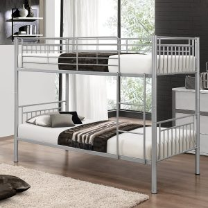 Single Metal Bunk Bed with Memory Foam Mattress