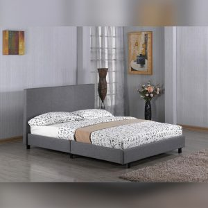 Double Fusion Fabric Grey Bed