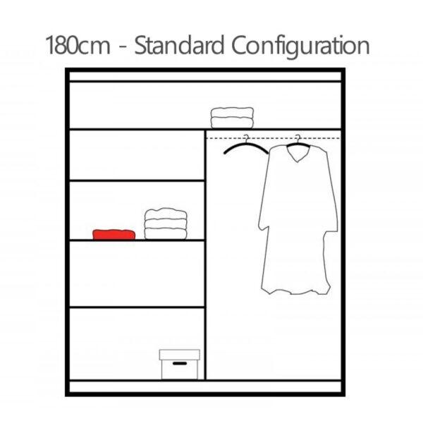 180cm wardrobe interior