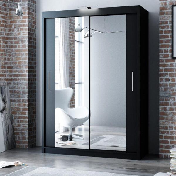 Black wardrobe 180cm wide