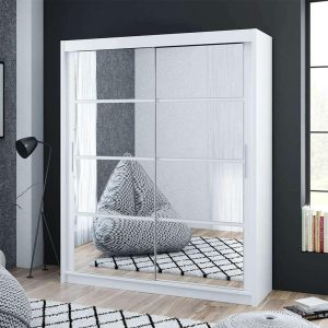 Dakota 160cm Sliding Mirror Door Wardrobe