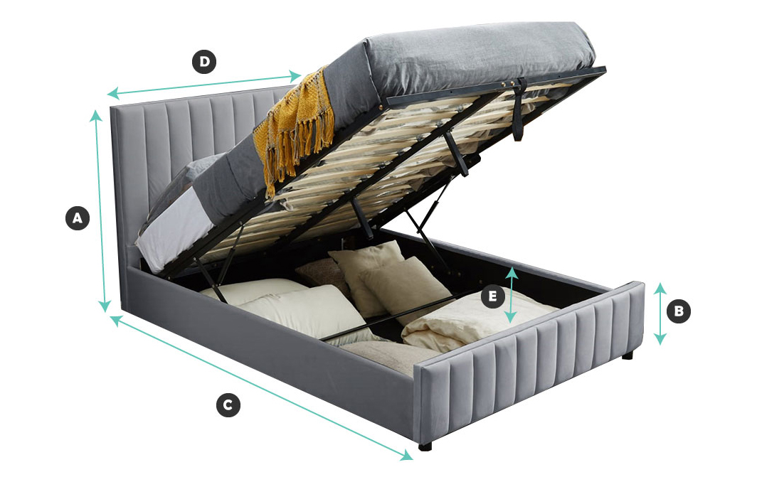 lucy storage bed dimension diagram