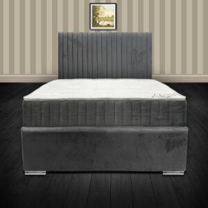 Bella Grey Plush Velvet Bed Frame